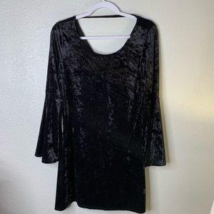 Black velvet LS dress